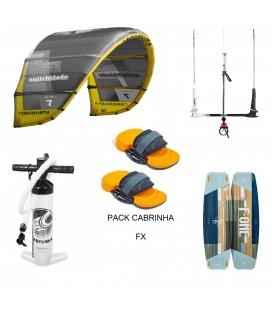 PACK CABRINHA SWITCHBLADE 10M² + F ONE TRAX HRD LITE TECH + POMPE + BARRE