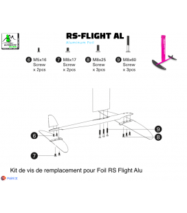 KIT VIS INOX A2 pour Foil RS FLIGHT AL