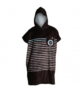 AFTER ESSENTIALS PONCHO SAILOR STRIPES BLACK 2020